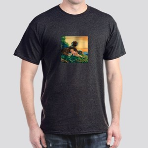 Saint Bernard Watercolor Dark T-Shirt