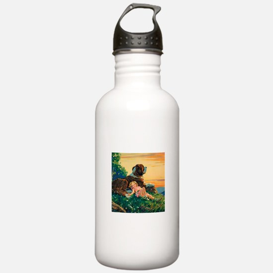 Saint Bernard Watercol Water Bottle