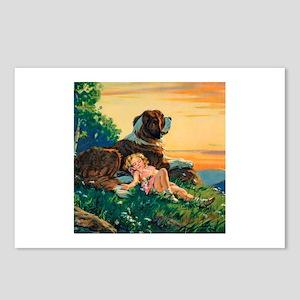 Saint Bernard Watercolor Postcards (Package of 8)