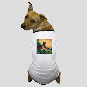 Saint Bernard Watercolor Dog T-Shirt