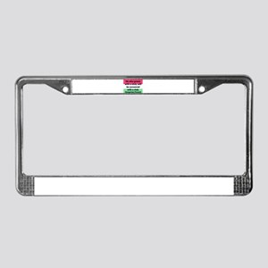 He Who Greets With A Stick License Plate Frame