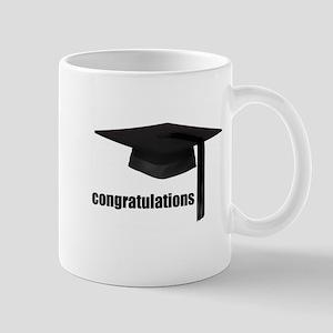Black Congratulations Graduation Cap Mugs