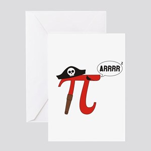 Pi R Squared Greeting Cards