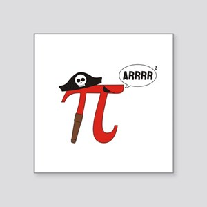 Pi R Squared Sticker