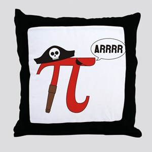 Pi R Squared Throw Pillow