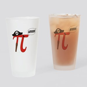 Pi R Squared Drinking Glass