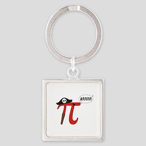 Pi R Squared Keychains
