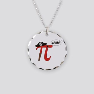 Pi R Squared Necklace Circle Charm