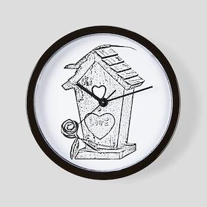 birdhouse 2 Wall Clock