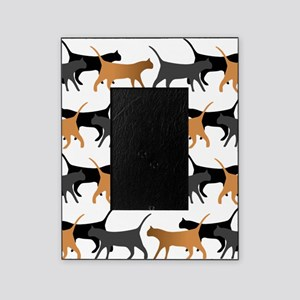 Procession of cats pattern Picture Frame