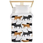Procession of cats pattern Twin Duvet