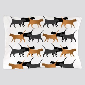 Procession of cats pattern Pillow Case