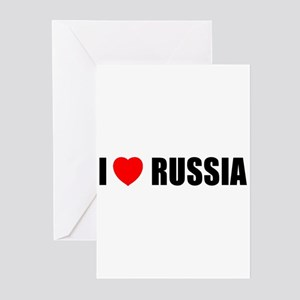 I Love Russia Greeting Cards (Pk of 10)