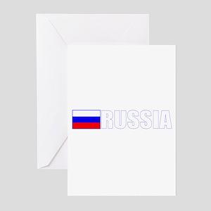 Russia Flag II (Dark) Greeting Cards (Pk of 10