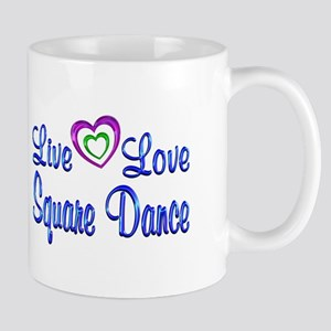 Live Love Square Dance Mug