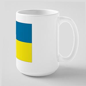 Ukranian flag Large Mug