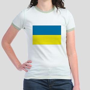 Ukranian flag Jr. Ringer T-Shirt