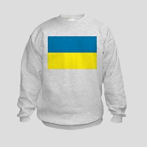 Ukranian flag Kids Sweatshirt