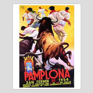 Vintage Pamplona Spain Travel Posters