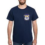 Masonic Police Thin Blue Line Dark T-Shirt