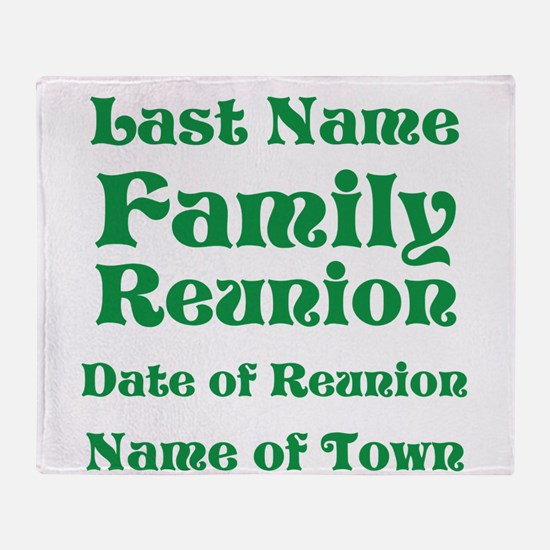 Family Reunion Throw Blanket