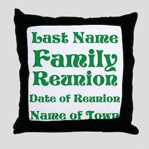 Family Reunion Throw Pillow