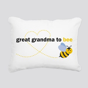 Great Grandma To Bee Rectangular Canvas Pillow