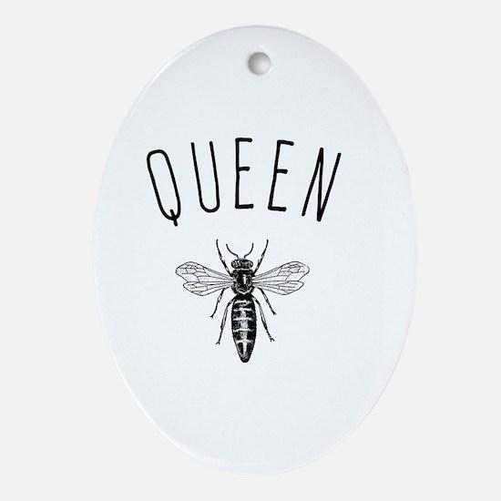Queen Bee Oval Ornament