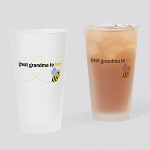 Great Grandma To Bee Drinking Glass