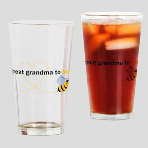 Great Grandma To Bee Drinking Glass