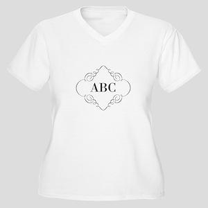 Vintage Monogram Plus Size T-Shirt