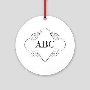 Vintage Monogram Ornament (Round)