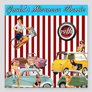 "Gould's 19th Microcar Cl Square Car Magnet 3"" x 3"""