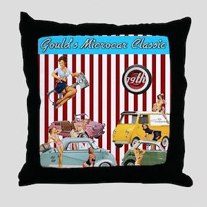 Gould's 19th Microcar Classic Design Throw Pillow