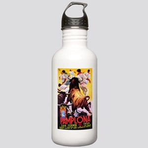 Vintage Pamplona Spain Travel Water Bottle