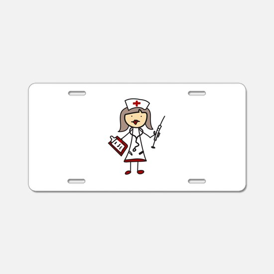 Nurse Aluminum License Plate