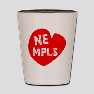 Heart NE Mpls - Red Shot Glass