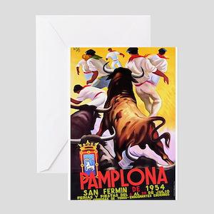 Vintage Pamplona Spain Travel Greeting Cards