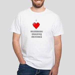 White I Luv Misc Shoe Elec T-Shirt