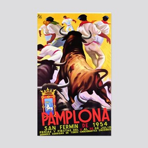Vintage Pamplona Spain Travel Sticker