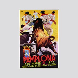 Vintage Pamplona Spain Travel Magnets