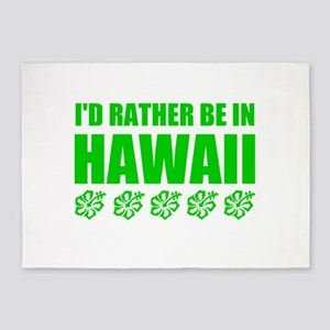 I'd Rather Be In Hawaii 5'x7'Area Rug