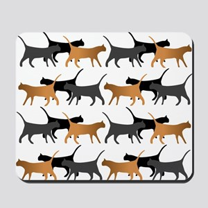 Procession of cats pattern Mousepad