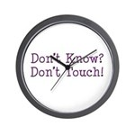 Don't Know? Don't Touch! Wall Clock