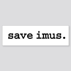 save imus. Bumper Sticker
