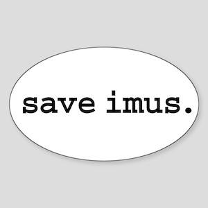 save imus. Oval Sticker