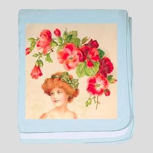 Romantic Edwardian Flapper baby blanket