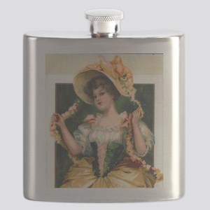 Octoberfest Lady Flask
