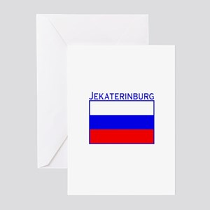 Jekaterinburg, Russia Greeting Cards (Package of