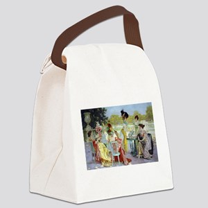 Regency Ladies Tea Party Canvas Lunch Bag